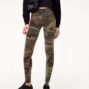 Camouflage Print Skinny Stretch Leggings Active